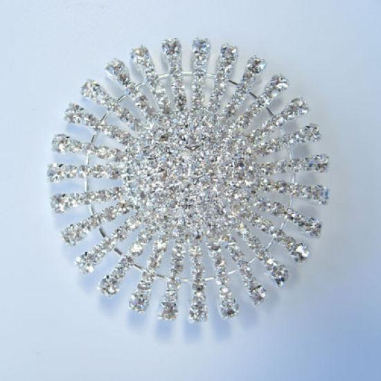 Diamante Ribbon Buckle Brooch