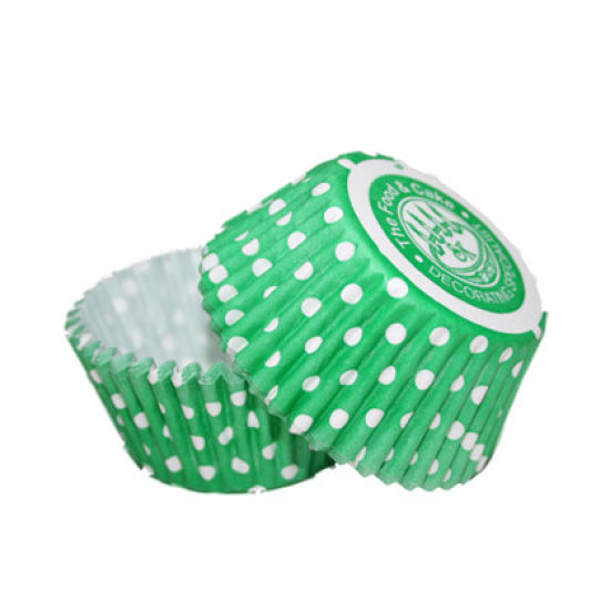 SK Cupcake Cases Winter Dotty Green Pack of 36