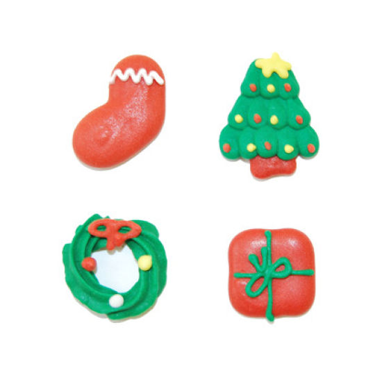 Christmas Sugar Decorations Set of 12