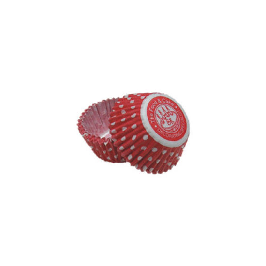 SK Mini Cupcake Cakes Dotty Red Pack of 50