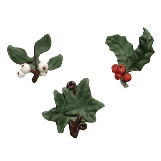 SK-GI Silicone Mould Holly, Ivy and Mistletoe