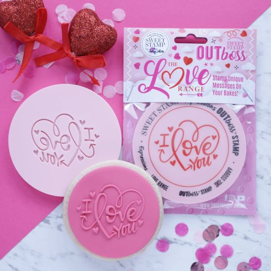 Sweet Stamp OUTboss Love Expressions I Love You Heart