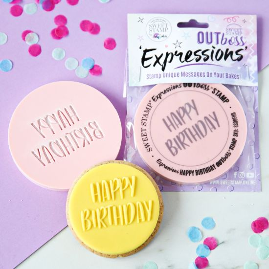 Sweet Stamp OUTboss Expressions Fun Happy Birthday