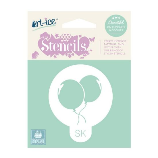 SK Art-ice Round Stencil Party Balloons