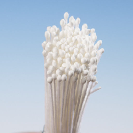 White Matt Round Head Stamens - XX Small