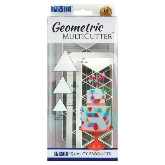 PME Geometric MultiCutter - Equilateral Triangles Set of 3
