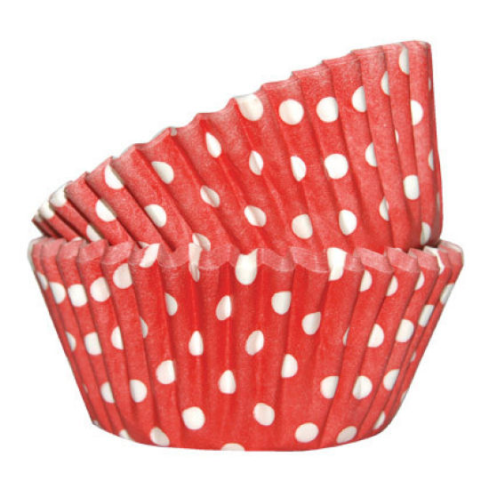 SK Cupcake Cases Dotty Red Pack of 36