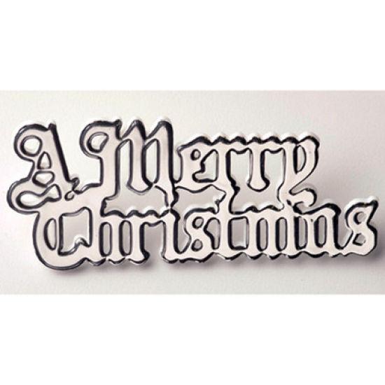Silver Plastic Merry Christmas Motto