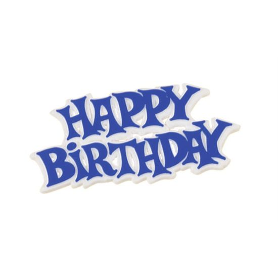 Blue Plastic Happy Birthday Motto