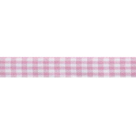 Rose Check Ribbon 15mm