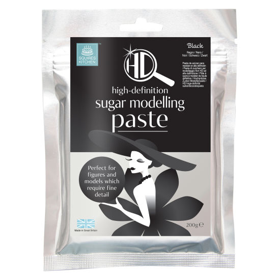 Squires Kitchen HD Sugar Modelling Paste Black 200g
