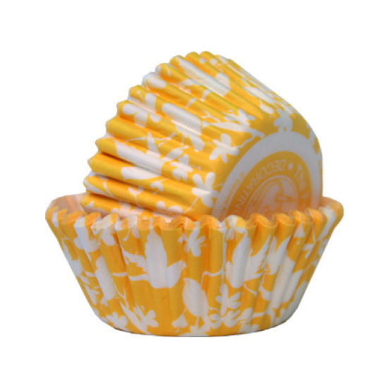 SK Cupcake Cases Bird Lemon Chiffon Pack of 36