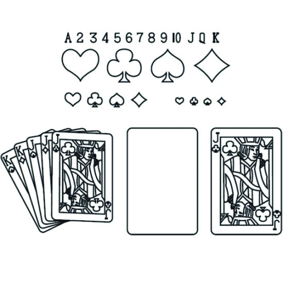 Patchwork Cutter & Embosser Playing Cards