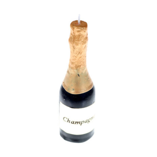 Champagne Bottle Candles 5cm Pack of 6
