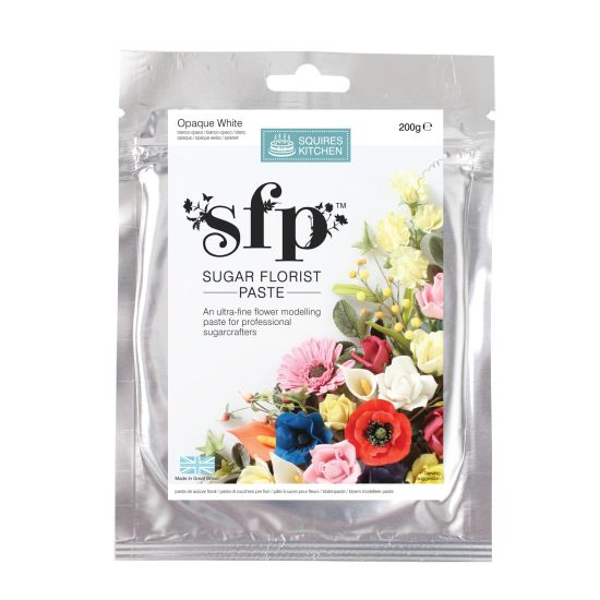 SK SFP Sugar Florist Paste Opaque White 200g