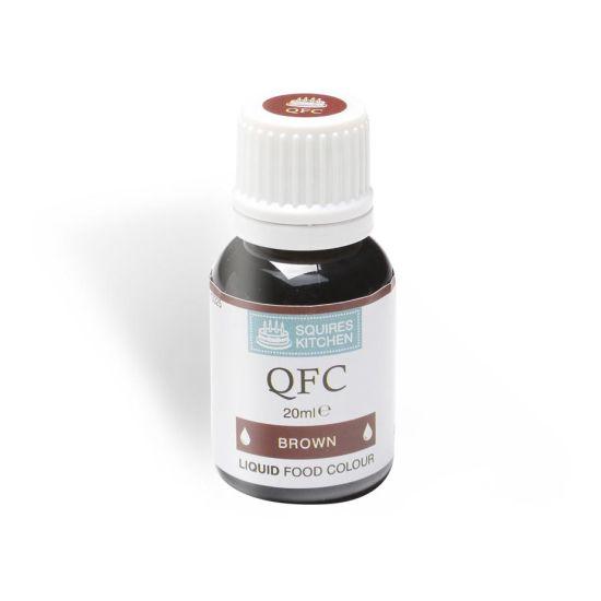 SK QFC Quality Food Colour Liquid Brown 20ml