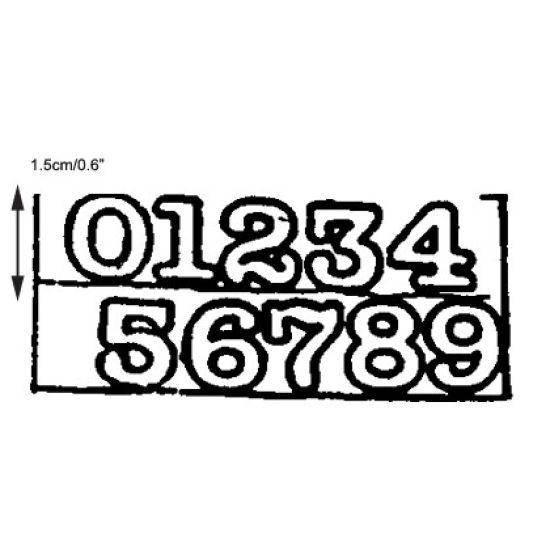 Patchwork Cutter & Embosser Small Numerals