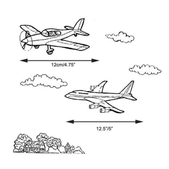 Patchwork Cutter & Embosser Aeroplanes