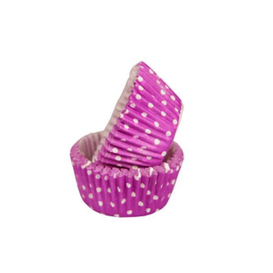 SK Mini Cupcake Cases Polka Dot Purple Grape Pack of 50
