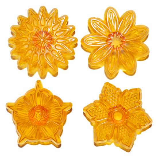 Jem Flower Cupcake Topper Set of 4