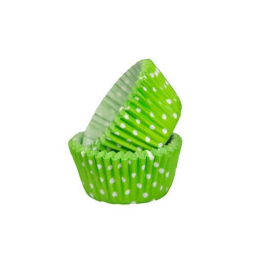SK Mini Cupcake Cases Polka Dot Fresh Green - Bulk Pack of 500