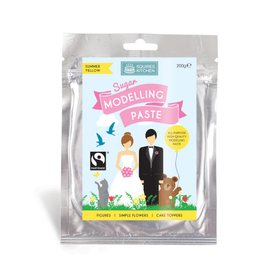 SK Fairtrade Sugar Modelling Paste Summer Yellow 200g
