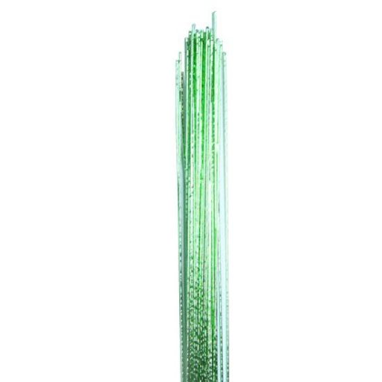 Hamilworth Metallic Floral Wires - Light Green