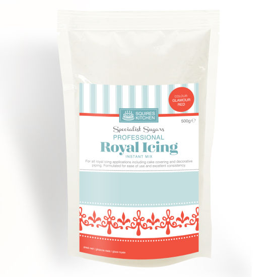 SK Royal Icing Glamour Red 500g