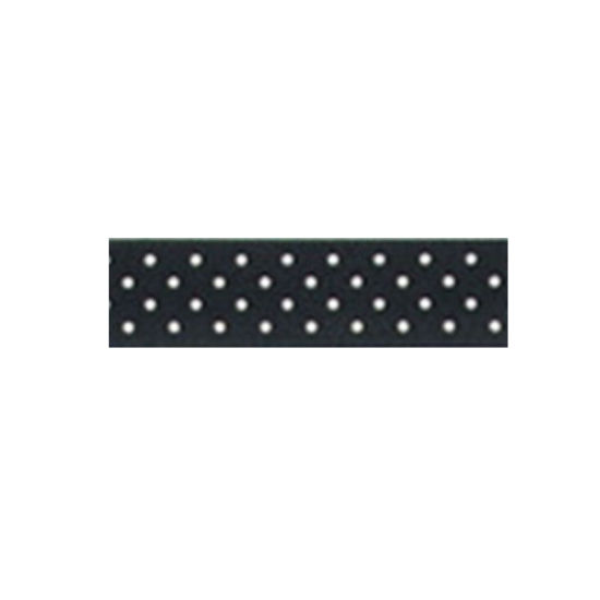 Dotty Satin Ribbon Black 15mm