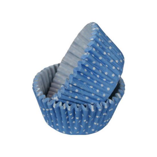 SK Cupcake Cases Polka Dot Sky Blue Pack of 36