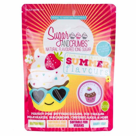 Sugar & Crumbs Natural Flavoured Icing Sugar Strawberries & Cream