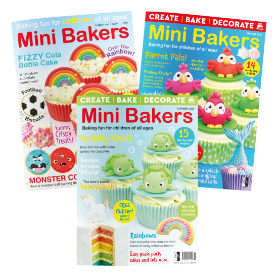 Mini Bakers Magazine Subscription 3 Issues Starting Issue 4 (Summer 2021)
