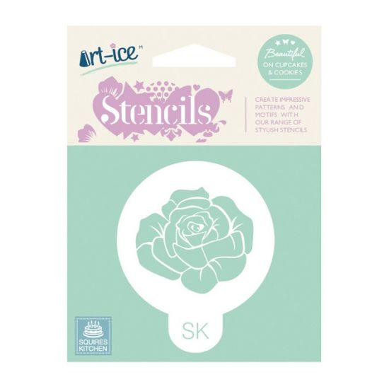 SK Art-ice Round Stencil Rose
