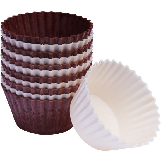 SK Edible Wafer Cupcake Cases Brown and Ivory Pack of 12