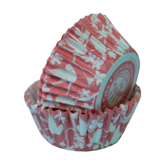 SK Cupcake Cases Bird Coral Pink Pack of 36