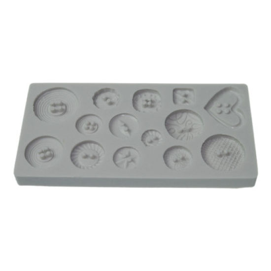 Alphabet Moulds - Patterned Buttons