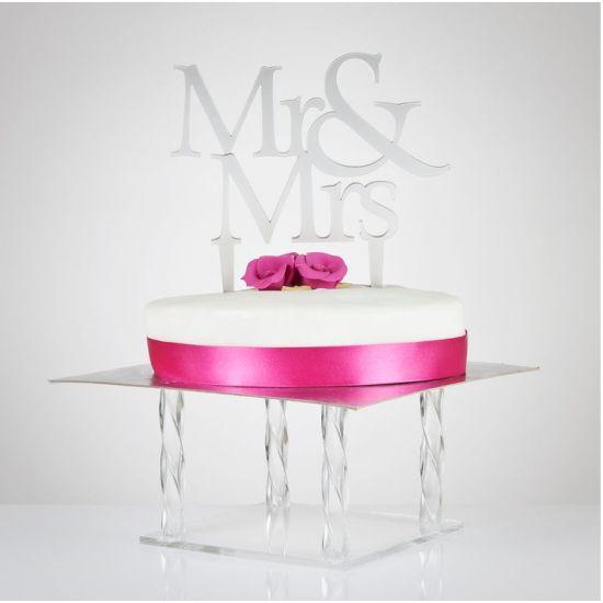 Mr & Mrs Cake Topper - Clear