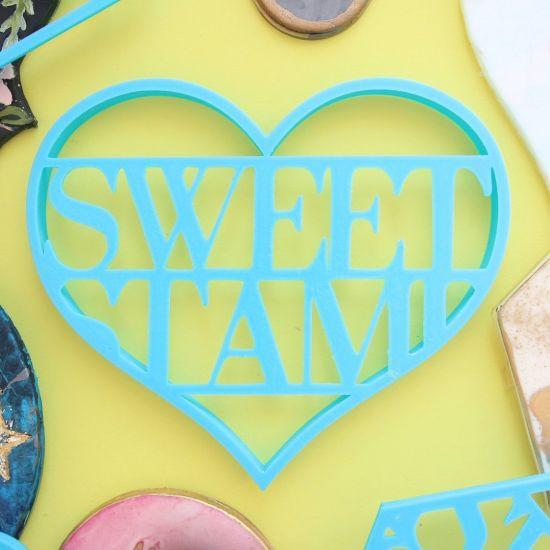 Sweet Stamp Blank Canvas Heart Cutter