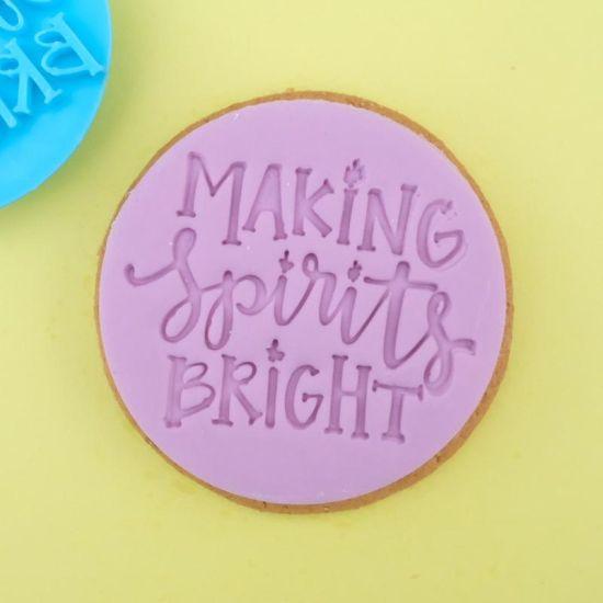 Sweet Stamp Making Spirits Bright Cupcake Embosser
