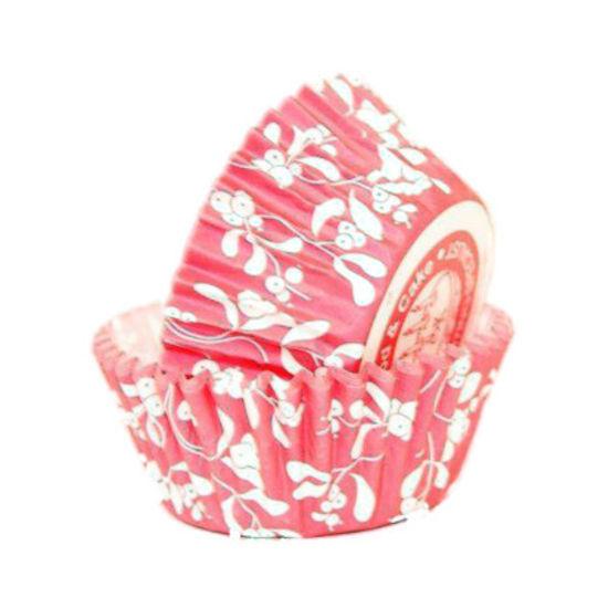 SK Cupcake Cases Mistletoe Berry Red - Bulk Pack of 360