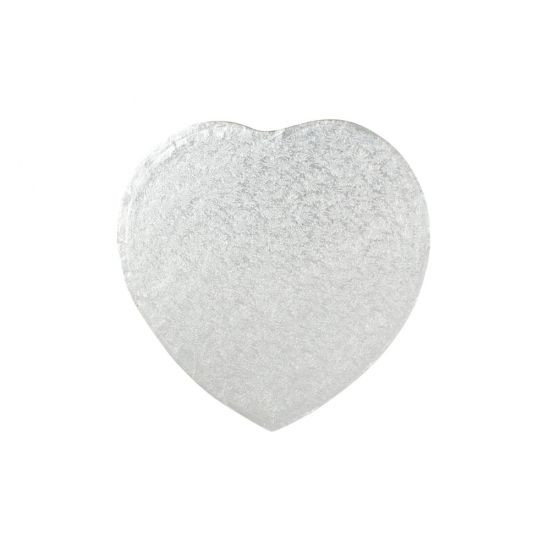 Silver 3mm Thick Hardboards - Heart - 12 Inch