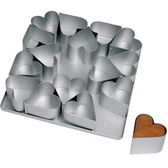 SK 16 Compartment Heart Mini Pan