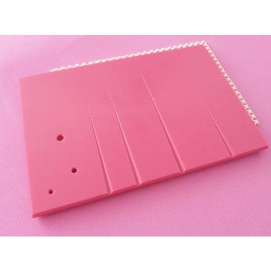 """10"""" X 7"""" Leaf Veining Board - Pink"""