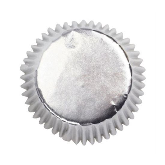 Silver Foil Cupcake Cases Pack of 45