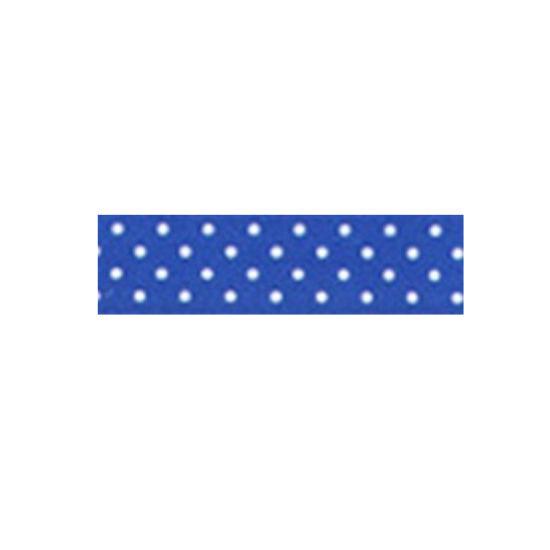 Dotty Satin Ribbon Royal Blue 15mm