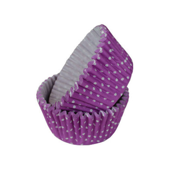 SK Cupcake Cases Polka Dot Purple Grape Pack of 36