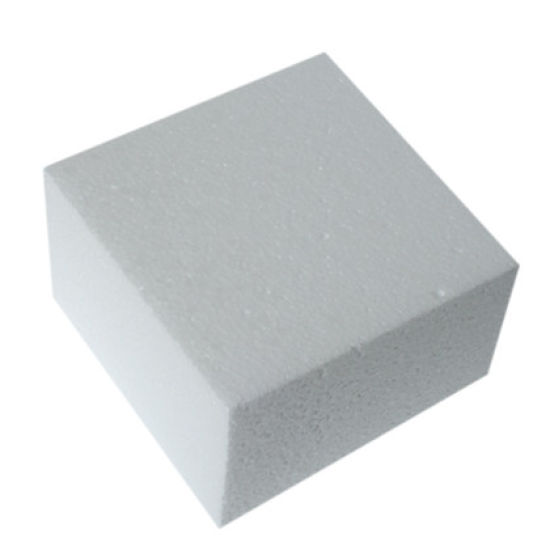 Square Straight Edged Cake Dummy - 4 Inch
