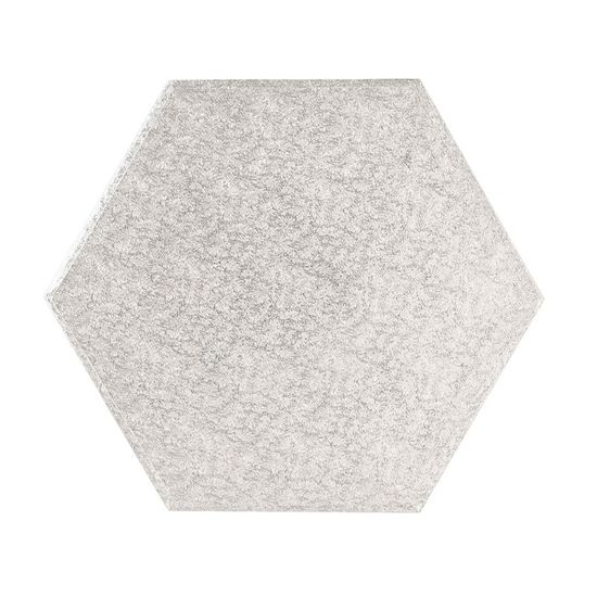 Silver Drum 1/2 Inch Thick Hexagonal 8 Inch