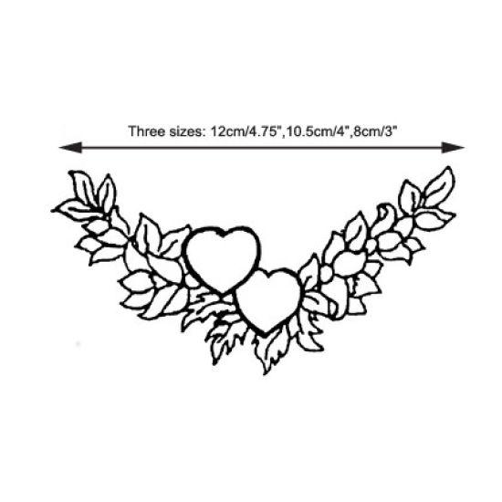 Patchwork Cutter & Embosser Heart Garland