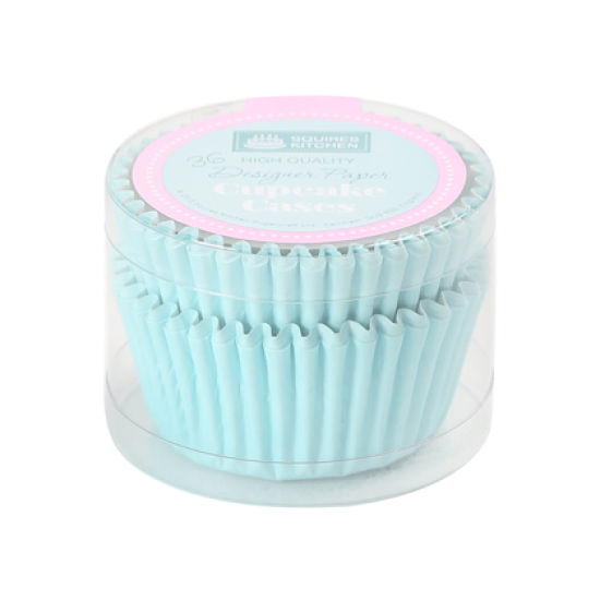 SK Cupcake Cases Colour Block Baby Blue Pack of 36